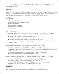 K9 Officer Sample Resume Professional K100 Officer Templates to Showcase Your Talent 1
