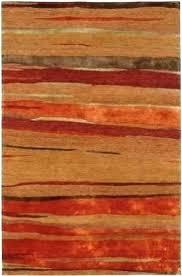 orange green rug and area rugs impressive rust hand tufted wool