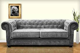 chesterfield sofa bed. Unique Chesterfield Chesterfield Style Sofa Bed Venus 3 Seater 2 Fabric Grey Settee  2seater Intended Bed I