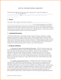 non disclosure agreement template word memo templates 5 non disclosure agreement template word