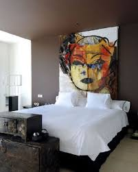 Headboards as artwork.