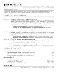 Sample Career Objectives For Resume For Nurses New Resume Nursing