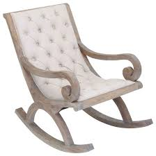 wooden rocking chair with cushion. Interesting Rocking Wood Rocking Chair White Fabric Button Quilted Cushion Furniture Decor Inside Wooden With W
