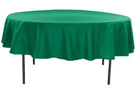 polyester 90 round tablecloth emerald green