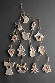 Handgefertigt Deko Für Weihnachten Tannenbaum Spielzeuge Figuren Aus Salzteig