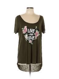 Details About Torrid Women Green Short Sleeve T Shirt 0 Plus