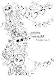 Love Coloring Book Pages Mama Baby Owl Coloring Page I Love Lucy