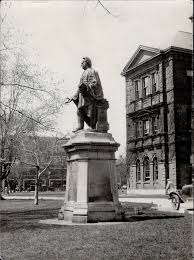 Egerton Ryerson monument at Normal School; Toronto : Digital Archive :  Toronto Public Library