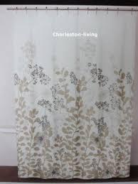 blue and tan shower curtain. dkny-luxurious-fabric-shower-curtain-floral-forest-tan- blue and tan shower curtain