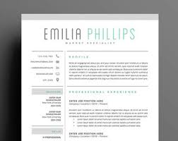 Resume Template 4 page | CV Template + Cover Letter for MS Word | Instant  Digital