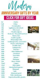 wedding anniversary gifts by year modern wedding anniversary gift ideas listed for every year