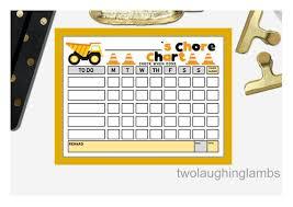 Point System Chart For Behavior Instant Chore Chart Boy Theme Behavior Chart Simplistic