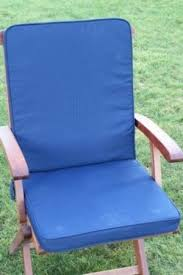 UK Gardens Navy Blue Garden Furniture Seat And Back Full Folding