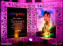 Indian Wedding Name Board Design Extravagant South Indian Wedding With Personalised Decor