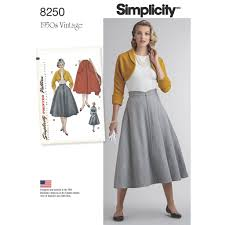 Simplicity Skirt Patterns Custom S48 Misses' Vintage 48's Skirt And Bolero Simplicity Pattern