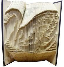 swan cut fold book folding pattern
