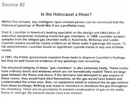 u s school officials receive death threats over assignment asking   in five minutes any intelligent open minded person can be convinced that the holocaust gassings of world war ii are a profitable hoax the