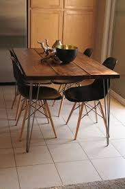 Hairpin dining table Eames Organic Modern Rustic Dining Table With Hairpin Legs On Etsy 40000 Pinterest Organic Modern Rustic Dining Table With Hairpin Legs On Etsy