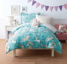mainstays kids unicorn sky bed set