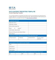 10 Incident Report Templates Word Excel Pdf Formats