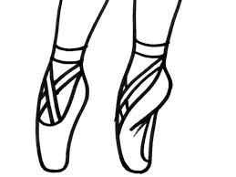 Disegno Di Scarpe Ballerina Da Colorare Per Bambini Con Disegni