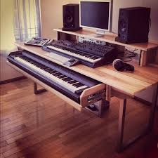 studio desk with keyboard drawer