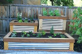 corrugated metal garden beds alto series in x in galvanized metal raised garden