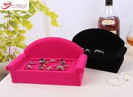 red velvet sofa. Superior Black/Rose Red Velvet Sofa Jewelry Ring Display Tray Case Box Organizer Earrings Stands
