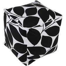 Black And White Pouf Safavieh Chloe Cube Pouf In Black Pof1007a The Home Depot