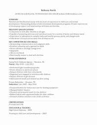 Nanny Resume Samples Awesome Sample Resumes 9 Resume Cv Simple