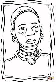 Small Picture African Woman coloring page Free Printable Coloring Pages