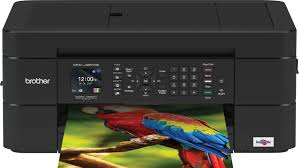 Black Fax Brother Work Smart Series Mfc J497dw Wireless All In One Printer