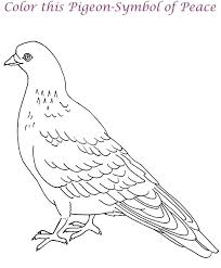 Small Picture Dove printable coloring page for kids