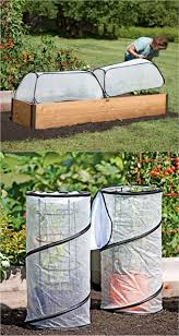 just want to include these no work version of greenhouses these collapsible covers are made of polyethylene greenhouse fabric they are inexpensive and