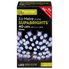 Supabright Led Lights 40 Led Supabrights White