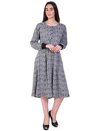 Buy Aashish Fabrics <b>Plus</b> Size Women's Grey Printed Autum/<b>Winter</b> ...