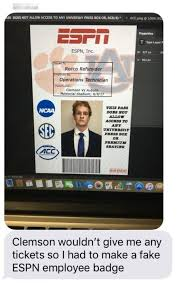 Get Into This Game Clemson – Id A Fake Made And Espn It Kid The To q8q10wag