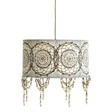 drum shade pendant lighting dream catcher o drum shade