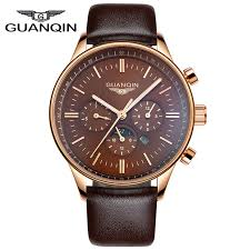aliexpress com buy 2015 new guanqin mens watch large dial quartz aliexpress com buy 2015 new guanqin mens watch large dial quartz watch multifunctional watches genuine leather mens watch luminous from reliable watch