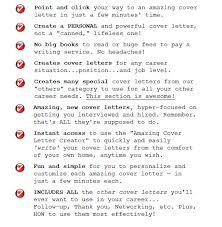 Amazing Cover Letter Creator Cover Letter And Resume Creator Writing Tips Guides And Software