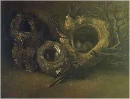 image only van gogh still life with three birds nests