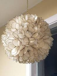 coming soon real white shell chandelier