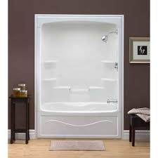 great one piece bathtub shower combo home depot bath and bathroom inside tub surround ideas 4