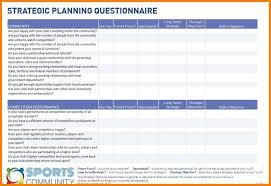 Strategic Planning Template Excel Strategic Plan Template