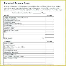 Simple Personal Balance Sheet Example Personal Balance Sheet Template Excel Lovely Simple In E