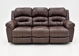bellamy leather reclining sofa brown