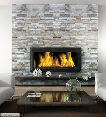 fireplace inspiration ledgestone wall floating mantel under wall mounted fireplace