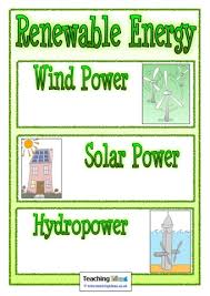 a printable poster showing different types of renewable energy  a printable poster showing different types of renewable energy that you can add to