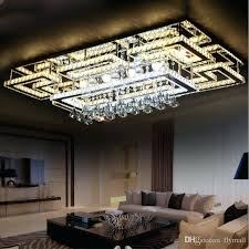 lighting modern design. Ceiling Lights: Square Light Luxury Modern Led Crystal Lamp Chandeliers For Living Room Bedroom Lighting Design