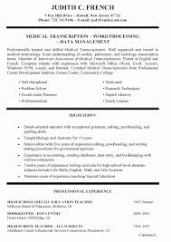 Special Education Teacher Resume Objective Resume Template Example